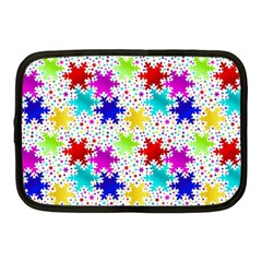 Snowflake Pattern Repeated Netbook Case (medium)