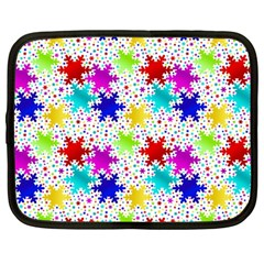 Snowflake Pattern Repeated Netbook Case (Large)