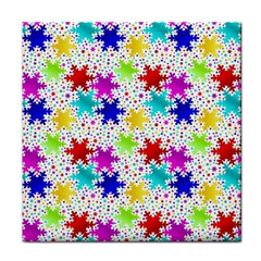 Snowflake Pattern Repeated Face Towel