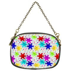 Snowflake Pattern Repeated Chain Purses (one Side)