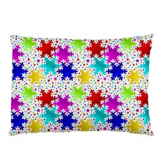 Snowflake Pattern Repeated Pillow Case