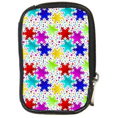 Snowflake Pattern Repeated Compact Camera Cases