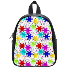 Snowflake Pattern Repeated School Bags (small)
