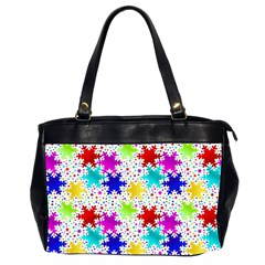 Snowflake Pattern Repeated Office Handbags (2 Sides)
