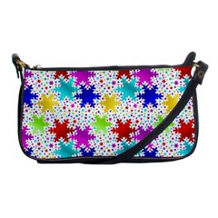 Snowflake Pattern Repeated Shoulder Clutch Bags