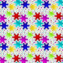 Snowflake Pattern Repeated Magic Photo Cubes