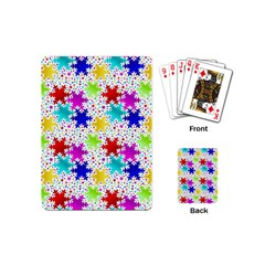 Snowflake Pattern Repeated Playing Cards (mini)