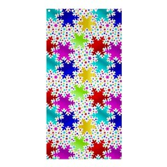Snowflake Pattern Repeated Shower Curtain 36  X 72  (stall)