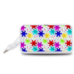 Snowflake Pattern Repeated Portable Speaker (white)