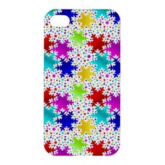 Snowflake Pattern Repeated Apple Iphone 4/4s Hardshell Case