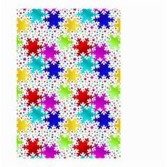 Snowflake Pattern Repeated Small Garden Flag (two Sides)