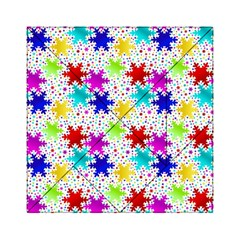 Snowflake Pattern Repeated Acrylic Tangram Puzzle (6  X 6 )