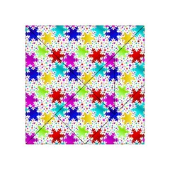 Snowflake Pattern Repeated Acrylic Tangram Puzzle (4  X 4 )