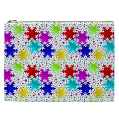 Snowflake Pattern Repeated Cosmetic Bag (XXL)