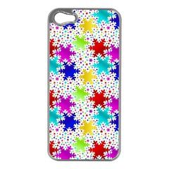 Snowflake Pattern Repeated Apple Iphone 5 Case (silver)