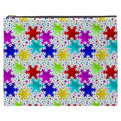 Snowflake Pattern Repeated Cosmetic Bag (XXXL)