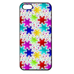Snowflake Pattern Repeated Apple Iphone 5 Seamless Case (black)