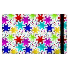 Snowflake Pattern Repeated Apple Ipad 3/4 Flip Case