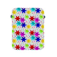 Snowflake Pattern Repeated Apple Ipad 2/3/4 Protective Soft Cases