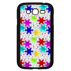 Snowflake Pattern Repeated Samsung Galaxy Grand Duos I9082 Case (black)