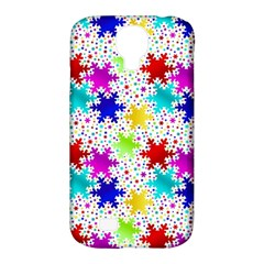 Snowflake Pattern Repeated Samsung Galaxy S4 Classic Hardshell Case (pc+silicone)
