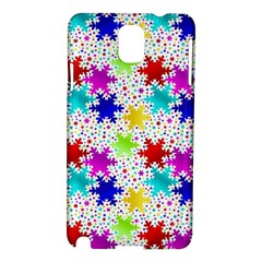 Snowflake Pattern Repeated Samsung Galaxy Note 3 N9005 Hardshell Case