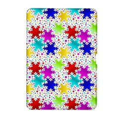 Snowflake Pattern Repeated Samsung Galaxy Tab 2 (10 1 ) P5100 Hardshell Case
