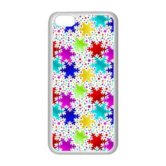 Snowflake Pattern Repeated Apple Iphone 5c Seamless Case (white)