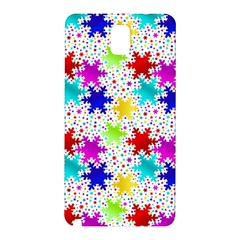 Snowflake Pattern Repeated Samsung Galaxy Note 3 N9005 Hardshell Back Case