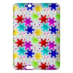 Snowflake Pattern Repeated Kindle Fire Hdx Hardshell Case