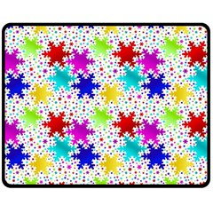Snowflake Pattern Repeated Double Sided Fleece Blanket (medium)
