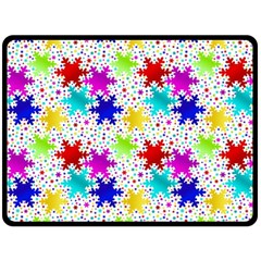 Snowflake Pattern Repeated Double Sided Fleece Blanket (large)