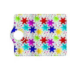 Snowflake Pattern Repeated Kindle Fire HD (2013) Flip 360 Case