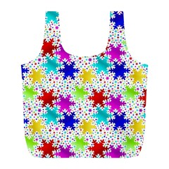Snowflake Pattern Repeated Full Print Recycle Bags (l)