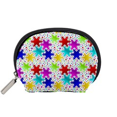 Snowflake Pattern Repeated Accessory Pouches (small)