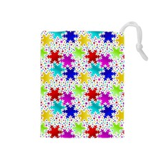 Snowflake Pattern Repeated Drawstring Pouches (medium)