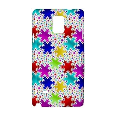 Snowflake Pattern Repeated Samsung Galaxy Note 4 Hardshell Case