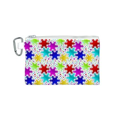 Snowflake Pattern Repeated Canvas Cosmetic Bag (s)