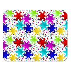 Snowflake Pattern Repeated Double Sided Flano Blanket (large)
