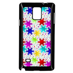 Snowflake Pattern Repeated Samsung Galaxy Note 4 Case (black)