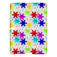 Snowflake Pattern Repeated Samsung Galaxy Tab S (10.5 ) Hardshell Case