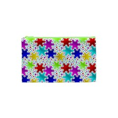 Snowflake Pattern Repeated Cosmetic Bag (xs)