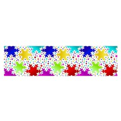 Snowflake Pattern Repeated Satin Scarf (oblong)