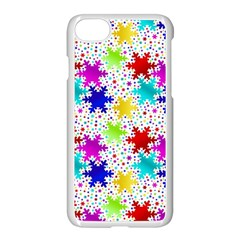 Snowflake Pattern Repeated Apple Iphone 7 Seamless Case (white)