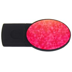 Abstract Red Octagon Polygonal Texture Usb Flash Drive Oval (2 Gb)