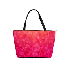 Abstract Red Octagon Polygonal Texture Shoulder Handbags