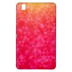 Abstract Red Octagon Polygonal Texture Samsung Galaxy Tab Pro 8 4 Hardshell Case
