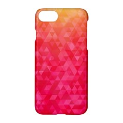 Abstract Red Octagon Polygonal Texture Apple Iphone 7 Hardshell Case