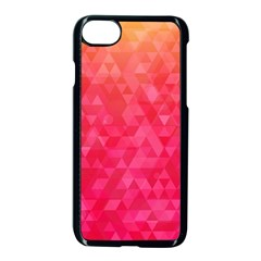 Abstract Red Octagon Polygonal Texture Apple Iphone 7 Seamless Case (black)