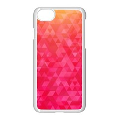 Abstract Red Octagon Polygonal Texture Apple Iphone 7 Seamless Case (white)